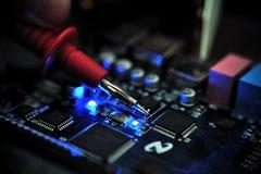 elektronisk mätt pcb-signalering för bräde arkivbild