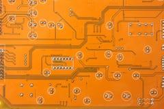 Elektronisk mikrochips Arkivfoto