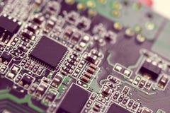 Elektronisk mikroströmkrets Arkivbild