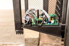 Elektronisk motor för portkontrollsystem Royaltyfri Bild