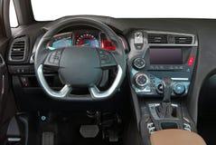 elektronisk navigering för bilkonsolinstrumentbräda Arkivbilder