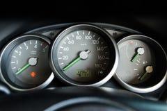elektronisk navigering för bilkonsolinstrumentbräda Arkivfoton
