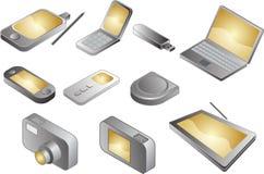 elektronisk olik grejillustration Arkivbild