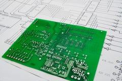 elektronisk projektworking arkivfoto