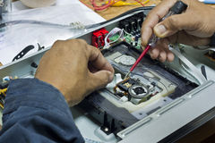 elektronisk reparation Arkivbilder