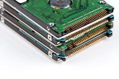 Elektronisk rest på vit Arkivbild