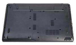 Elektronisk samling - baken av en isolerad modern bärbar dator Arkivfoto
