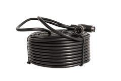 Elektronisk samling - koaxiala kablar med kontaktdon PS2 för s Arkivfoto