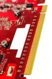 Elektronisk samling - kontaktdonvideocard för data PCI-e Arkivfoto