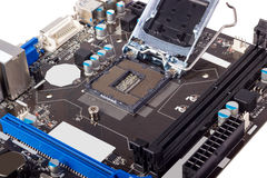 Elektronisk samling - tom CPU-hålighet Royaltyfria Foton