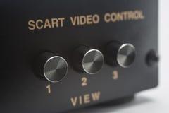 Elektronisk scartströmbrytare Arkivfoto