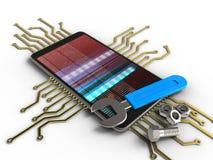 elektronisk strömkrets 3D Royaltyfri Fotografi