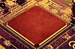 Elektronisk strömkrets för CPU Royaltyfri Bild