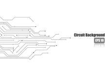 Elektronisk strömkrets på vit bakgrund Royaltyfri Foto