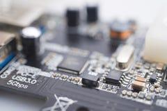 Elektronisk strömkrets USB 3 arkivfoton