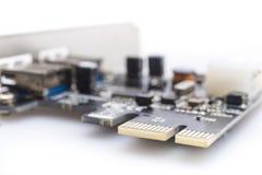 Elektronisk strömkrets USB 3 arkivbild