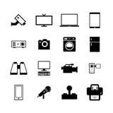 elektronisk symbol vektor illustrationer