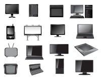 Elektronisk symbolsuppsättning vektor illustrationer