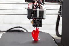 Elektronisk tredimensionell plast- skrivare, 3D skrivare, pri 3D Arkivfoton