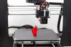 Elektronisk tredimensionell plast- skrivare, skrivare 3D Fotografering för Bildbyråer