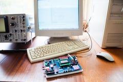 Elektronisk utveckling Arkivfoto