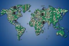 elektronisk värld royaltyfria foton