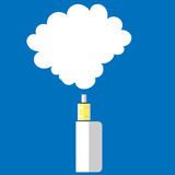 Elektronisk vape för cigarettfärgbakgrund Arkivfoton