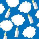 Elektronisk vape för cigarettfärgbakgrund Arkivbild