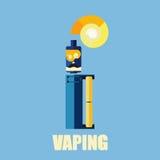 Elektronisk vape för cigarettfärgbakgrund Royaltyfria Bilder