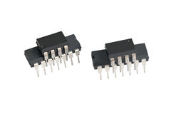 Elektroniska chiper för dator Royaltyfri Fotografi