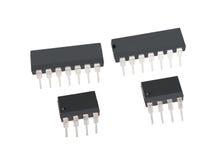 Elektroniska chiper för dator Arkivbild