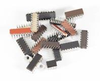 Elektroniska chiper för dator Arkivfoton