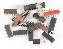 Elektroniska chiper för dator Arkivbilder
