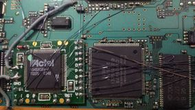 Elektroniska chiper och strömkretsar royaltyfri fotografi
