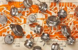 elektroniska delar arkivbild