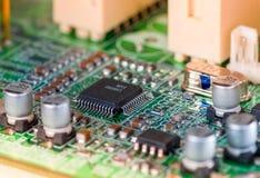 Elektroniska delar för dator Fotografering för Bildbyråer