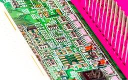 Elektroniska delar för dator Royaltyfri Fotografi