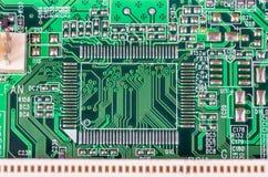Elektroniska delar för dator Arkivbild