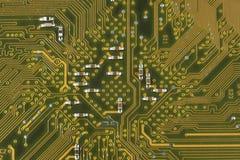 Elektroniska delar/makrofors Fotografering för Bildbyråer