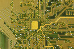 Elektroniska delar/makrofors Arkivbilder