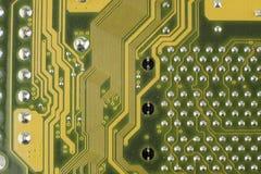 Elektroniska delar/makrofors Arkivbild