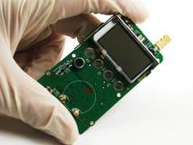 Elektroniska delar och apparater Arkivfoto