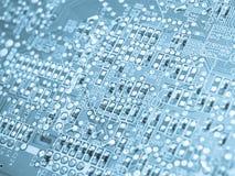 elektroniska element för brädeströmkrets Arkivbild