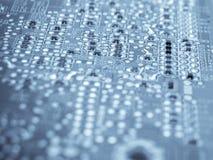 elektroniska element för brädeströmkrets Arkivfoto