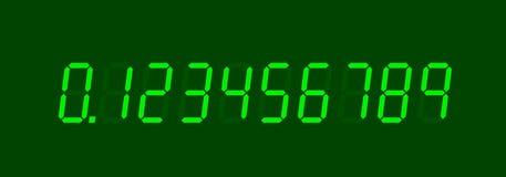 elektroniska nummer Arkivbild