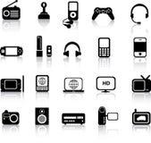 elektroniska silhouettes Royaltyfria Bilder