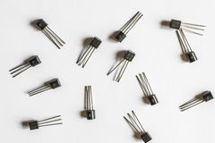 elektroniska transistorer arkivbilder