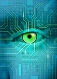 elektroniskt öga royaltyfri illustrationer