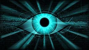 Elektroniskt ögonbegrepp för storebror, teknologier för den globala bevakningen Arkivfoton