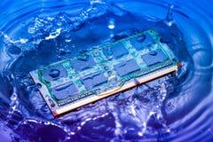 Elektroniskt begrepp för teknologi nedgång för CPU-RAMdator in i Royaltyfria Bilder